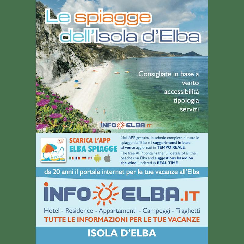 Cartina Elba.Cartina Le Spiagge Dell Isola D Elba In Italiano Elba Spiagge