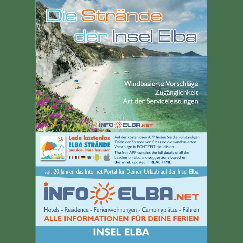 Elba Karte.Karte Strande Der Insel Elba Auf Deutsch